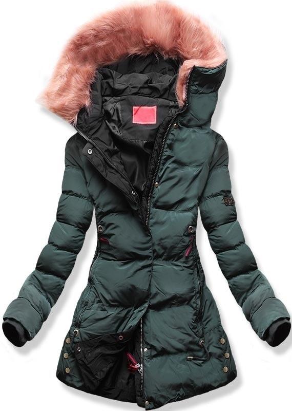 MODOVO Dámska zimná bunda s kapucňou M-7 khaki - XL