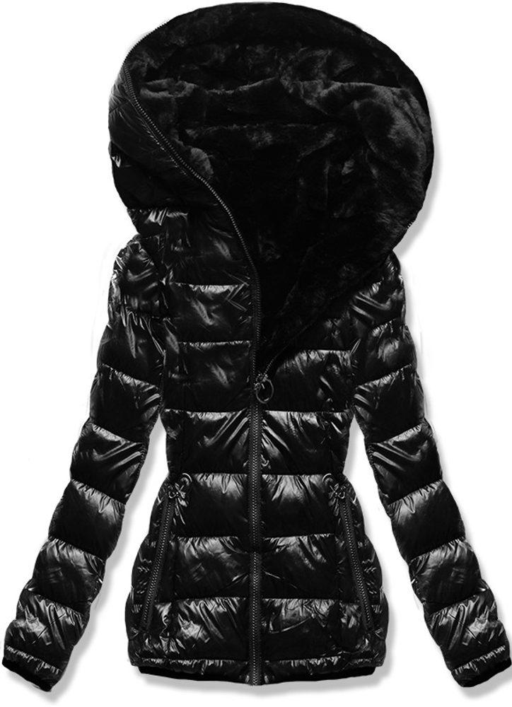 MODOVO Zimná bunda perleťovo-čierna - M