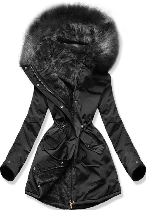 MODOVO Dámska zimná bunda W252 čierna