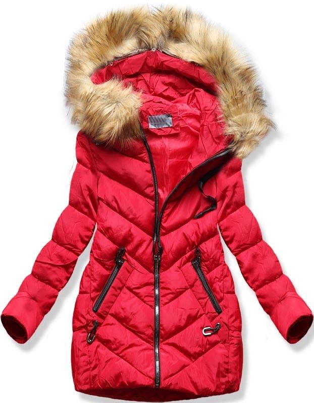 MODOVO Dámska zimná bunda B2633 červená