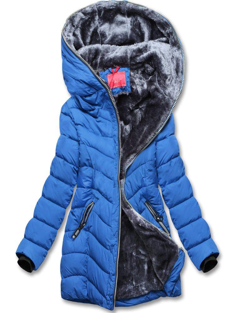 MODOVO Dámska zimná modrá bunda