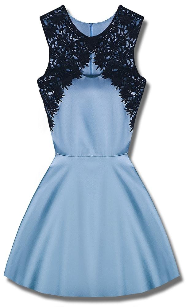 MODOVO Elegantné dámske šaty P7513 svetlo modré - UNI