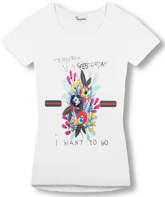 MODOVO Dámske tričko biele - UNI