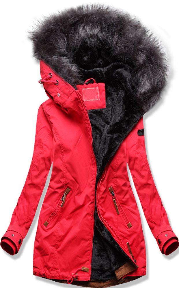 Dámska zimná bunda červená