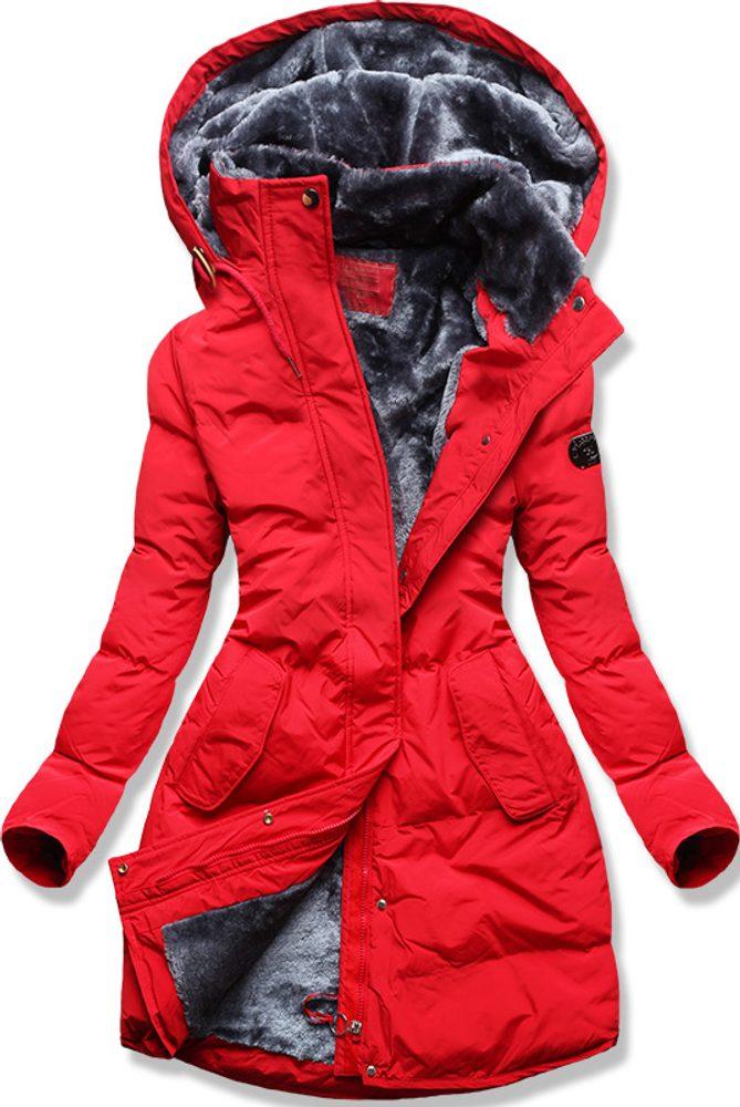 MODOVO Dámska zimná bunda červená - L