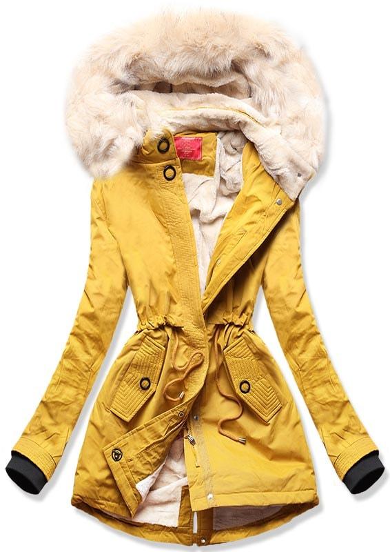 MODOVO Dámska zimná bunda Q33 žltá - S