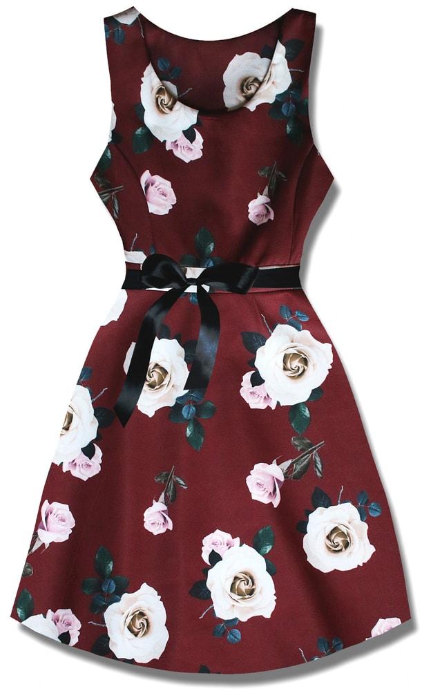 MODOVO Elegantné dámske šaty P7536 bordové