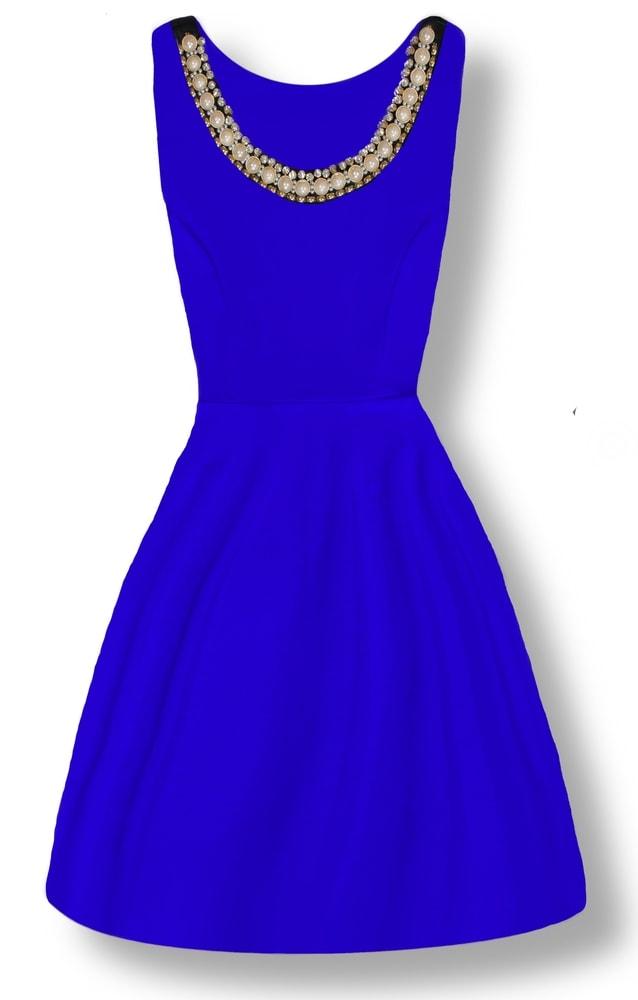 MODOVO Elegantné dámske šaty 8515 modré