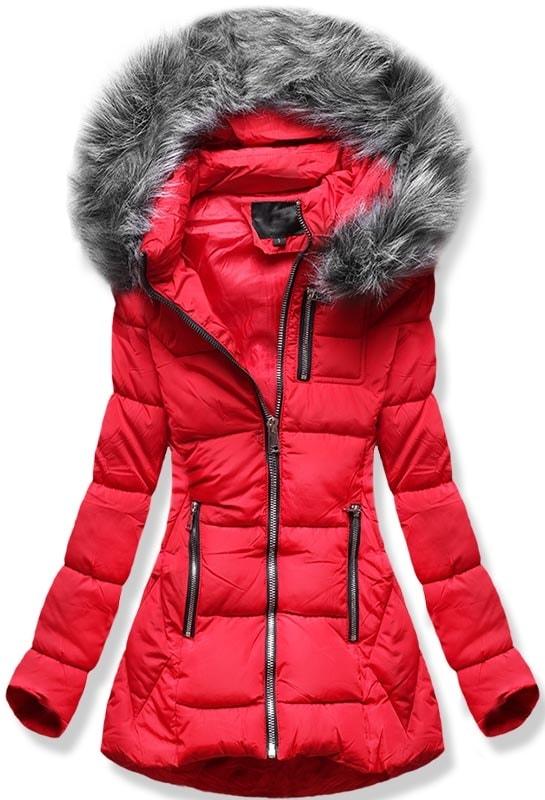 MODOVO Dámska zimná bunda B9901 červená