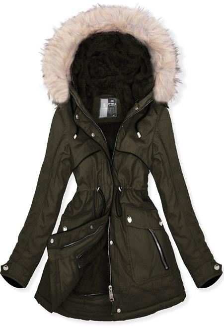 MODOVO Dámska zimná bunda W633 khaki