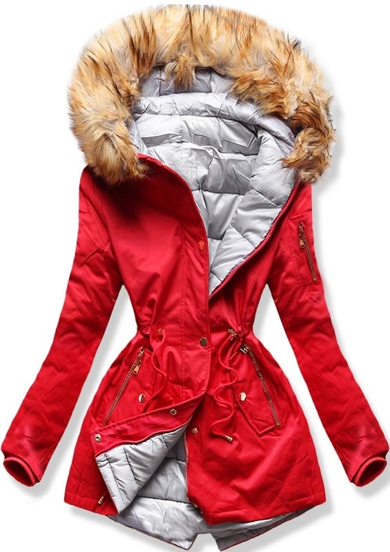MODOVO Dámska zimná bunda B2636 červená
