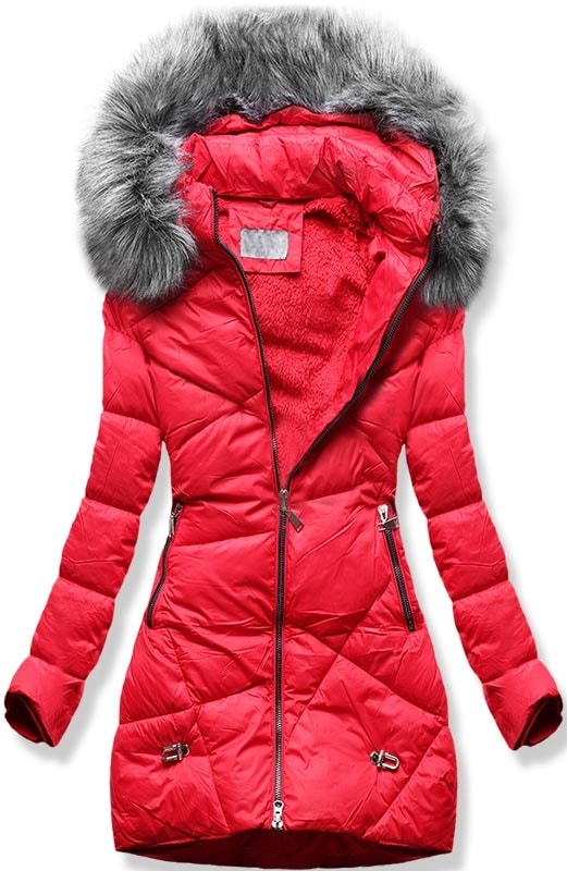MODOVO Dámska zimná bunda B2647 červená