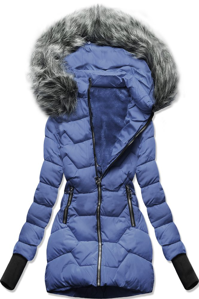MODOVO Zimní bunda s kapucí modrá