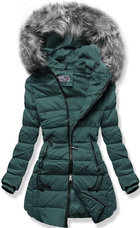 MODOVO Dámska zimná bunda B9501 zelená - M
