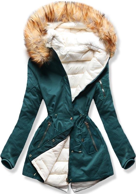MODOVO Dámska zimná bunda B2636 zelená - M