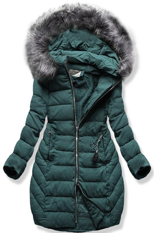 MODOVO Dámska zimná bunda B2645 zelená - M