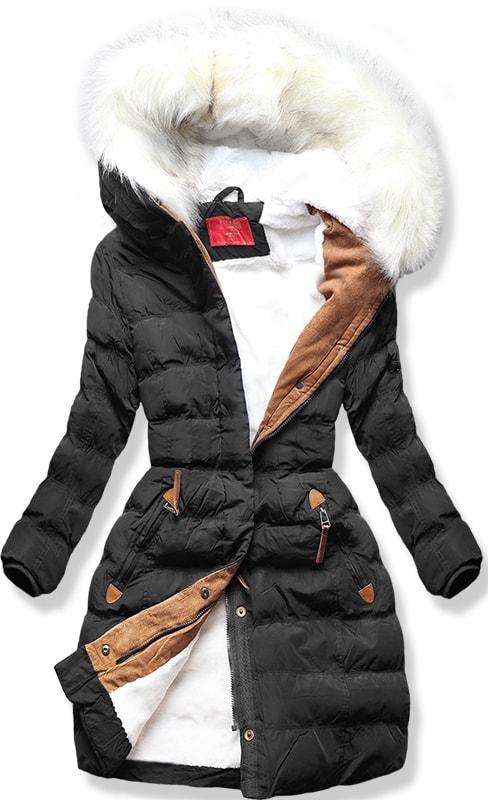 MODOVO Dámska zimná bunda A913 čierna