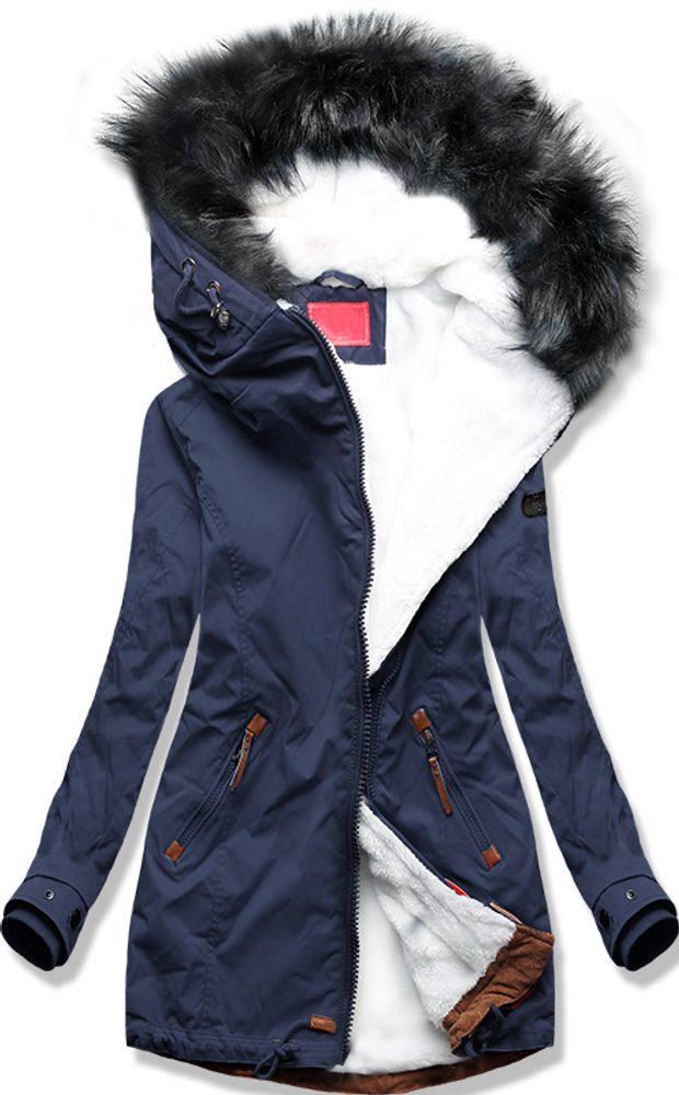 MODOVO Dámska zimná bunda tmavomodrá