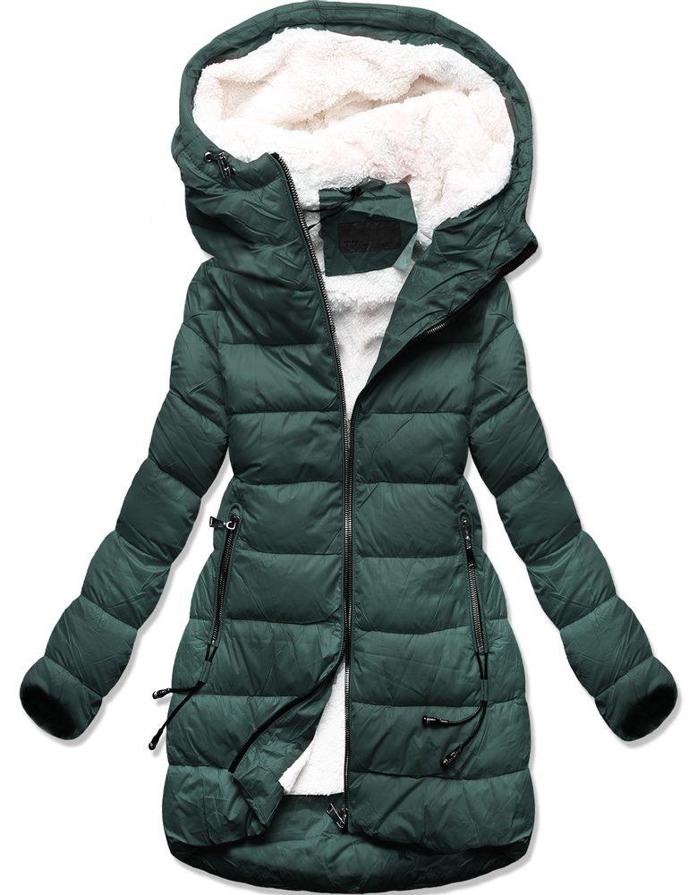 MODOVO Dámska zimná bunda zelená - XXL