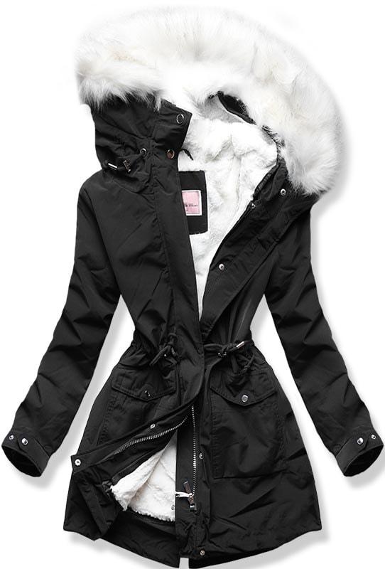 MODOVO Dámska zimná bunda W256 čierna