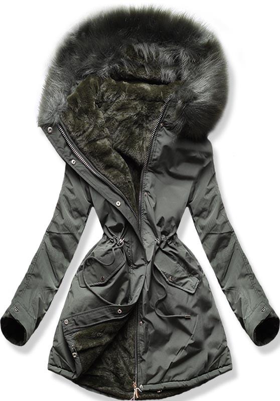 MODOVO Dámska zimná bunda W252 khaki - XS