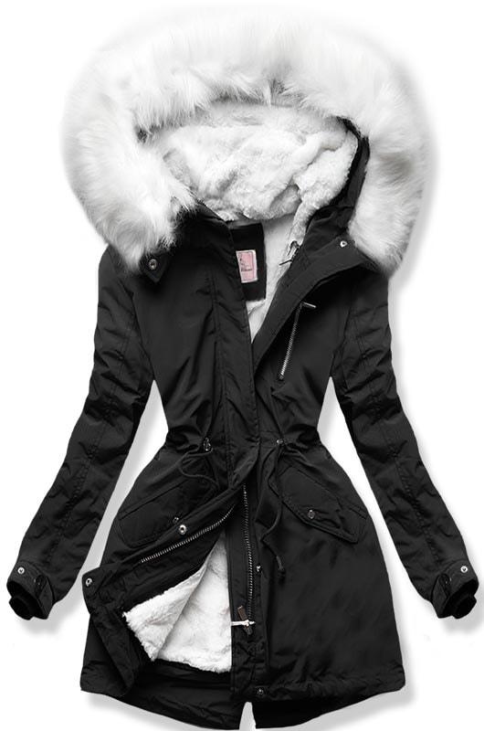 MODOVO Dámska zimná bunda W259 čierna