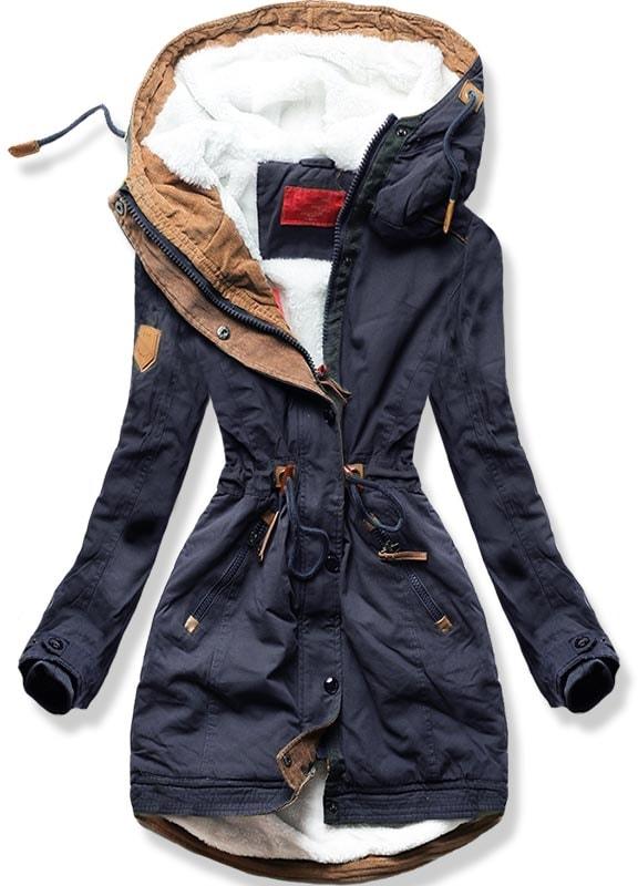 MODOVO Dámska zimná bunda A-93 tmavomodrá - S