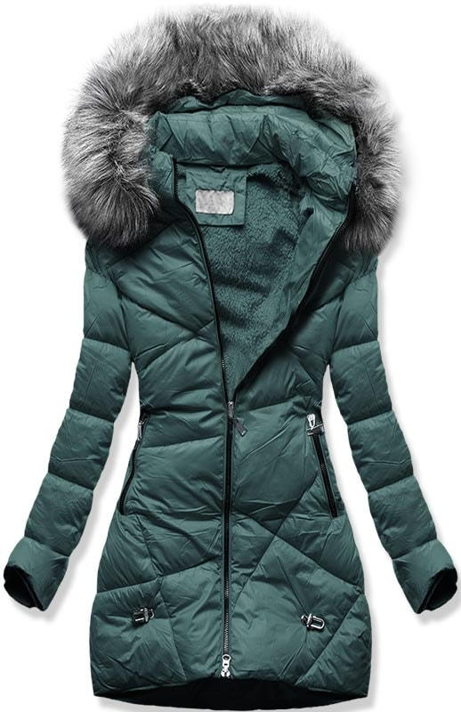 MODOVO Dámska zimná bunda B2647 zelená - M