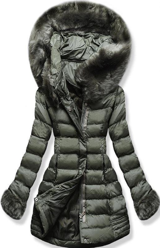 MODOVO Dámska zimná bunda s kapucňou W750 zelená