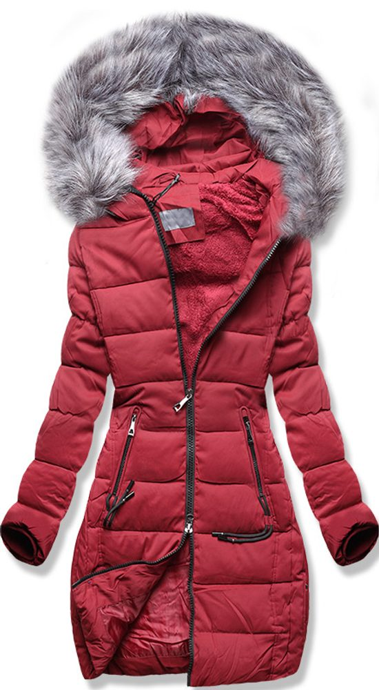 MODOVO Dámska zimná bunda bordová