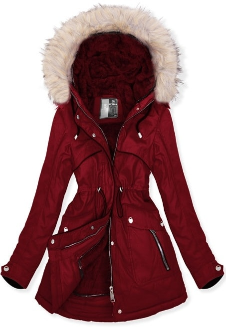 MODOVO Dámska zimná bunda W633 bordová - S