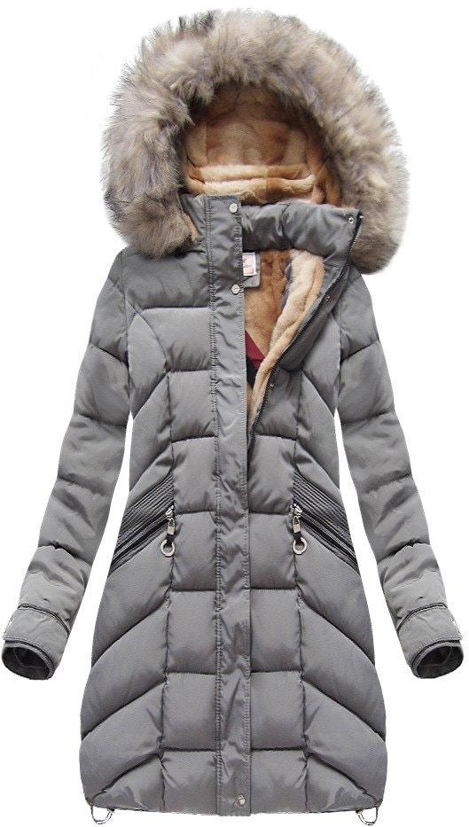 MODOVO Dámska zimná bunda W737 šedá