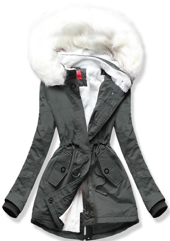 MODOVO Dámska zimná bunda Q33 khaki - S