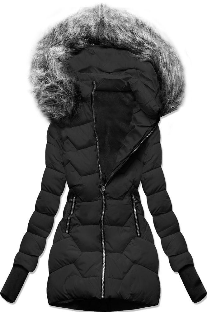 MODOVO Zimní bunda s kapucí černá - XXL