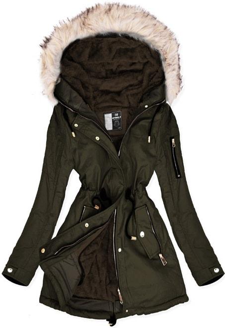 MODOVO Dámska zimná bunda W630 zelená - M