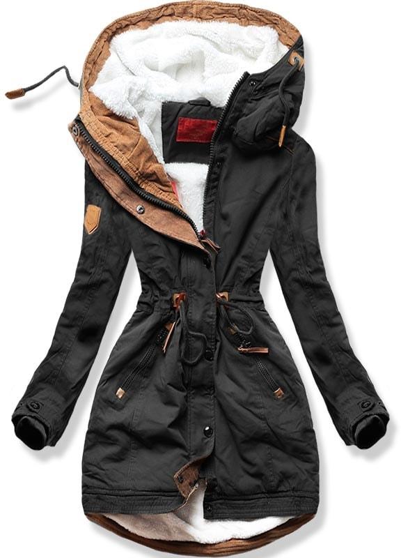 MODOVO Dámska zimná bunda A-93 čierna - L