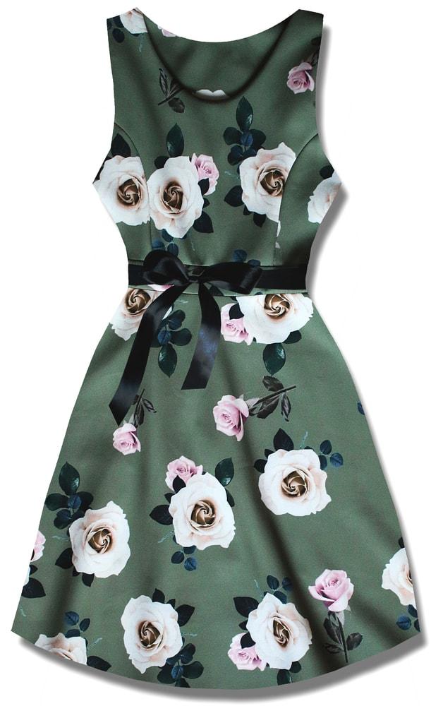 MODOVO Elegantné dámske šaty P7535 khaki