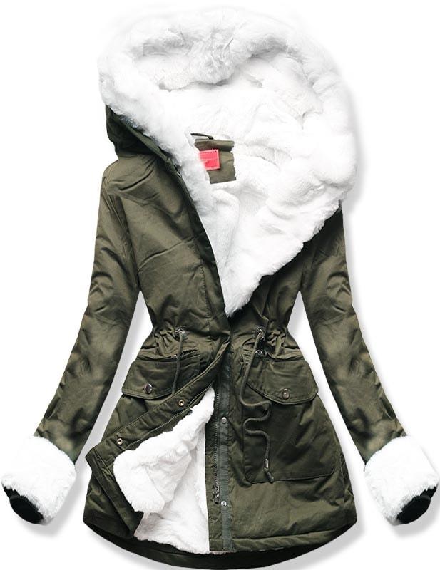 MODOVO Dámska zimná bunda 7356 khaki