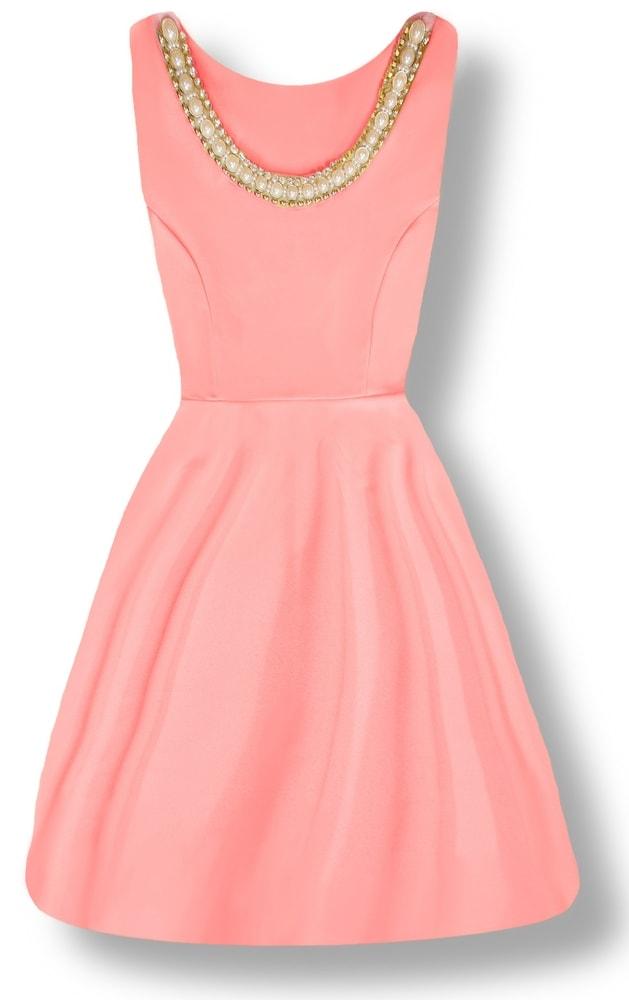 MODOVO Elegantné dámske šaty 8515 ružové