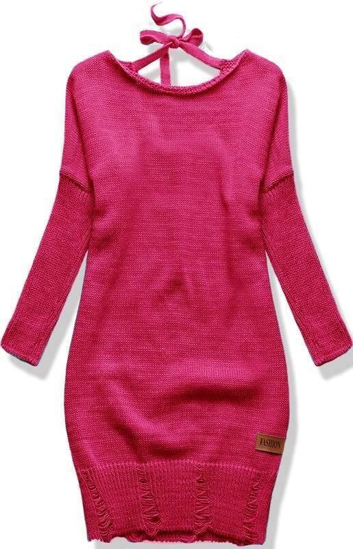 MODOVO Dlhý dámsky sveter SWF01W ružový