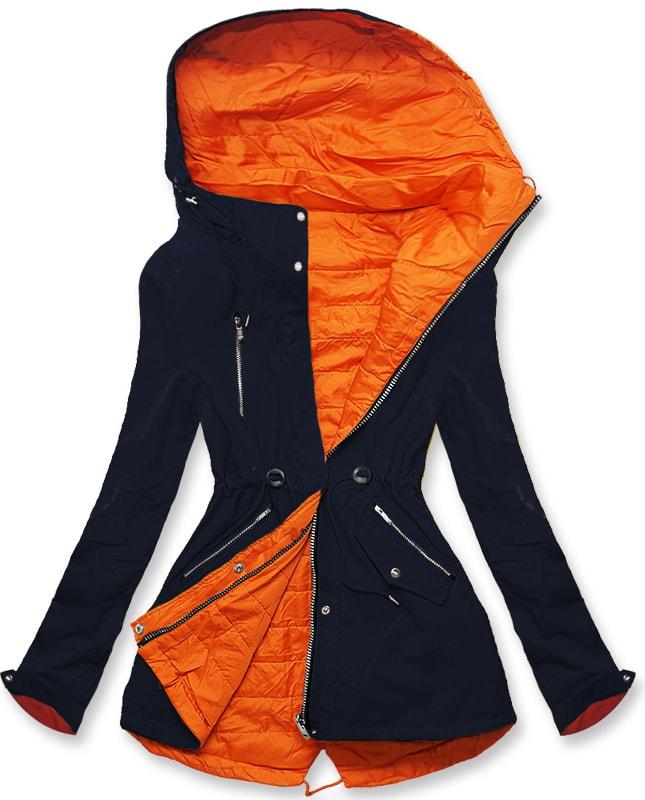 MODOVO Dámska prechodná bunda W242 tmavomodro-oranžová - XXL