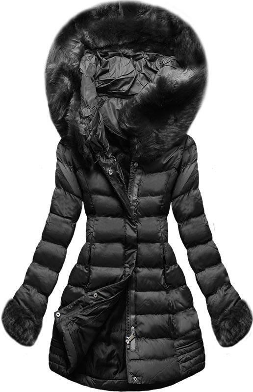 MODOVO Dámska zimná bunda s kapucňou W750 čierna