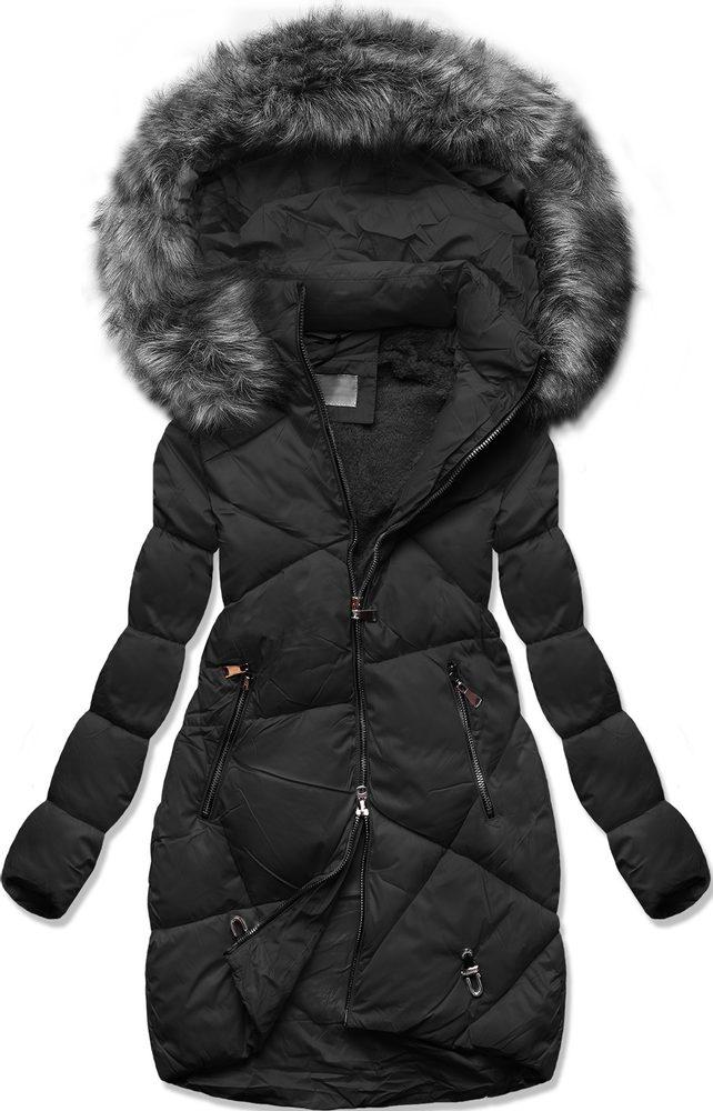 MODOVO Zimná prešívaná bunda čierna - M