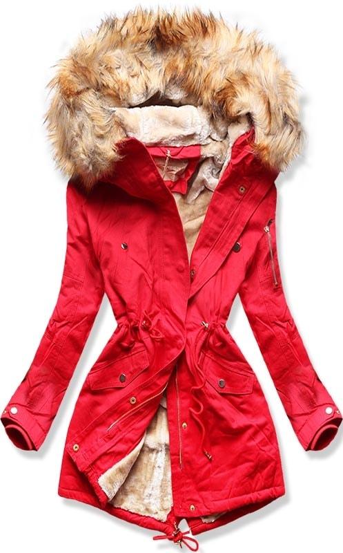 MODOVO Dámska zimná bunda B506 červená