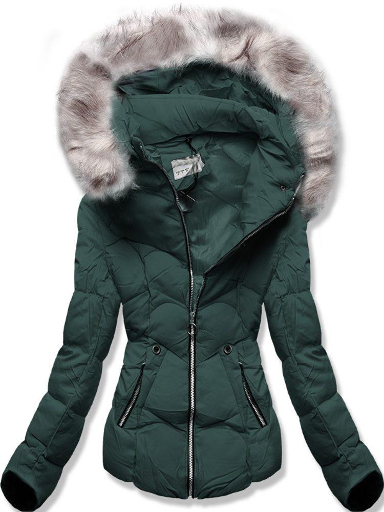 MODOVO Zimní bunda s kapucí khaki - M