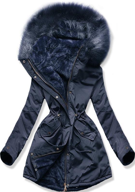 MODOVO Dámska zimná bunda W252 tmavomodrá - XS