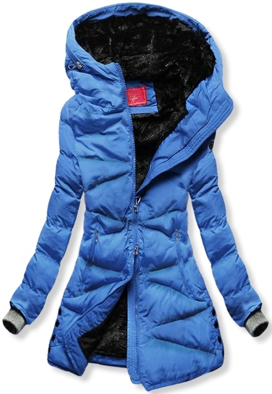 MODOVO Dámska zimná bunda S605 modrá - L