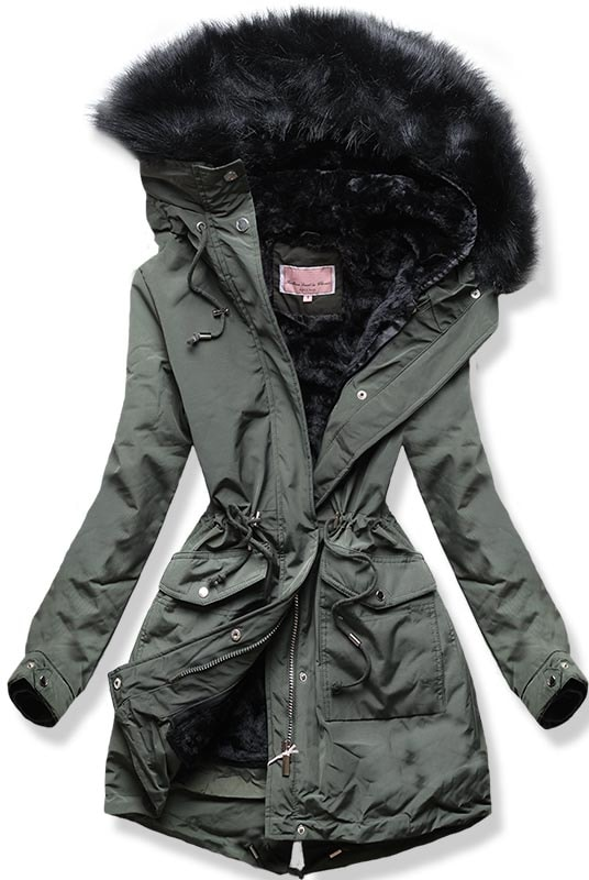 MODOVO Dámska zimná bunda W256 khaki