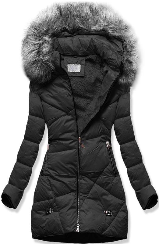 MODOVO Dámska zimná bunda B2647 čierna
