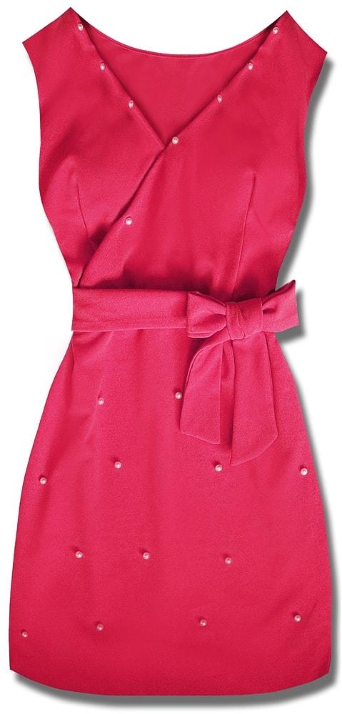 MODOVO Elegantné dámske šaty 8513 ružové